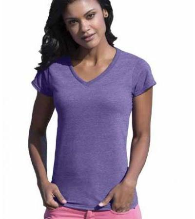 Textil T-Shirt Ladies V-Neck fllt klein
